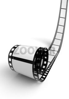Blanko Filmrolle Weiß Schwarz 01