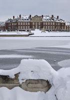Nordkirchen Castle in winter, baroque moated castle, Nordkirchen, Muensterland, Germany, Europe