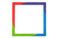 Contemporary colorful modern wooden picture frame.
