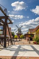 AFishing village Papenburg in Lower Saxony in Germany