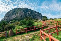 Sanbangsan Mountain, Jeju Olle Trail in Jeju Island, Korea