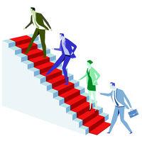Career advancement, growth concept illustration