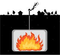 Underground Fire Cartoon