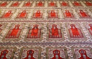 Gebetsteppich in Moschee