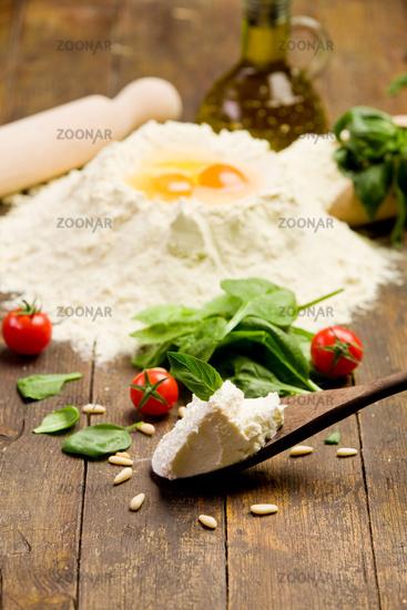 Ingredients for Homemade Ravioli