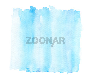Bright Light Blue Watercolor Lines In Wash