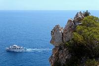 Passing boat at Mallorca