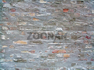 halbverputzte Wand / brick wall with render