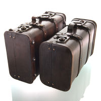 Vintage suitcases isolated