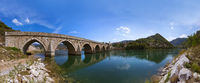 Old Bridge on Drina river in Visegrad - Bosnia and Herzegovina