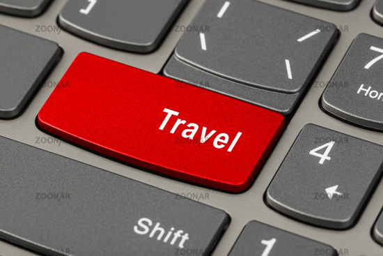Computer keyboard with Travel key