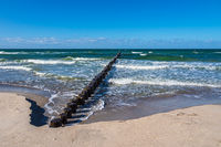 Buhne an der Ostseeküste in Zingst auf dem Fischland-Darß