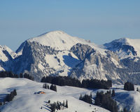 Winter landscape near Zweisimmen, Switzerland.