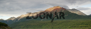Chugach Mountains Near Highway 1 Alaska United States North America