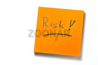 Merkzettel Risk