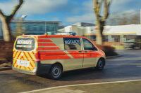 Emergency ambulance at fast speed.