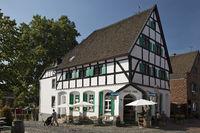 Old town, Monheim am Rhein, Bergisches Land, North Rhine-Westphalia, Germany, Europe