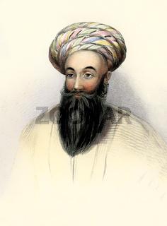 Padshah Sultan Shah Shuja Durrani, 1785 – 1842, fifth Emir of Afghanistan, digitally optimized
