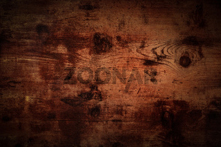Dark rustic wooden background, abstract brown board surface