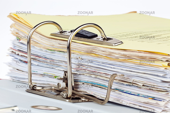 Files Folder with documents and papers