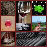 Wine collage.