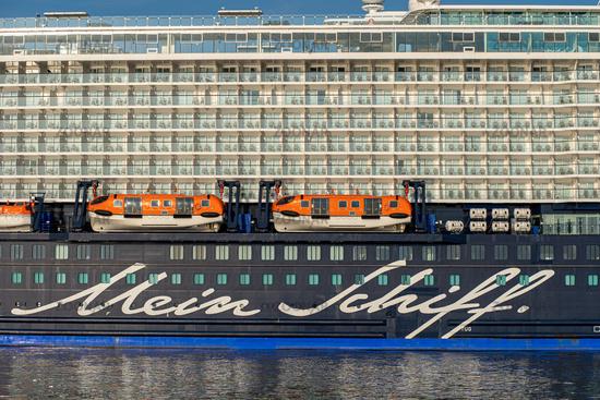 Cruise ship Mein Schiff 4 at Eurogate in Bremerhaven