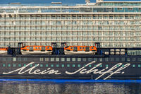Cruise ship Mein Schiff 4 at Eurogate in Bremerhaven