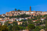 Town in the Tuscany Italy