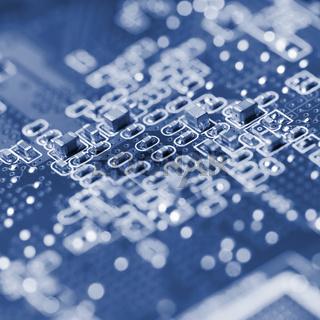 Macro of an electronic circuit board