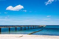 Strand und Seebrücke an der Ostseeküste in Heiligendamm