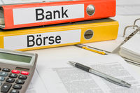 Folders with the german label Bank und Boerse - Bank and Stock exchange