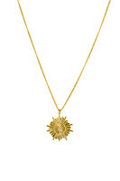 Elegant gold star shaped necklace on white background-  womens jewelry