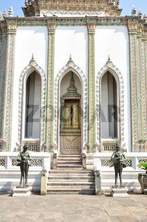 Ancient Golden carving door.