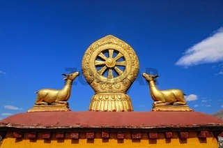 Dharmachakra mit den Gazellen  Jokhang-Tempel  Tibet China