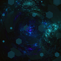 Fractal abstract pattern background. Green and violet colors