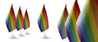 Set of lgbt national flags on a white background