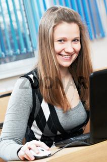 beauty student girl studying
