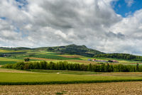 Hegau landscape with view of the Hohenstoffeln, Baden-Wuerttemberg, Germany