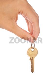 Female hand holding a key