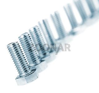 Row bolt close up