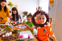 Kids adore spring holidays and waiting for Easter