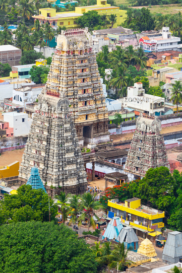 Gopura ( towers) of  Lord Bhakthavatsaleswarar Temple. Built by Pallava kings in 6th century. Thirukalukundram (Thirukkazhukundram)