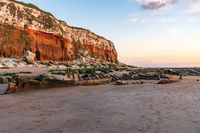 A shipwreck in the evening light at the Hunstanton Cliffs in Norfolk, England