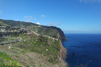 Madeira, cliff landscape on the south coast
