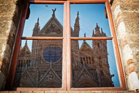 Reflection of the Duomo of Siena