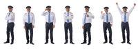 Full length portraits of airline pilot