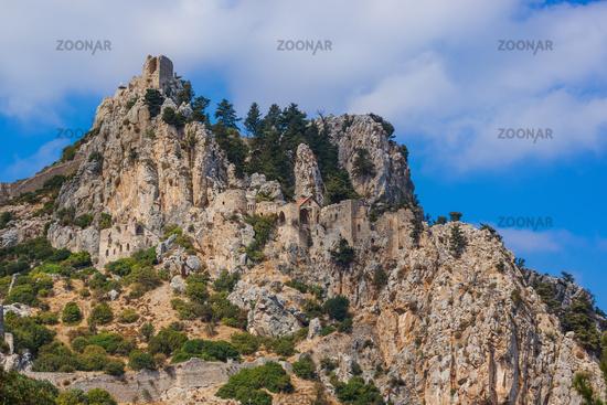Historical Saint Hilarion Castle in Kyrenia region - Northern Cyprus