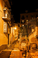 Old Town Of Nice by Night In France
