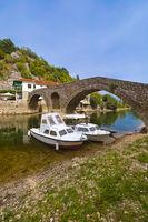 Old Bridge in Rijeka Crnojevica River near Skadar Lake - Montenegro