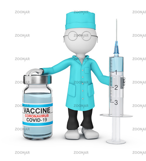 A doctor with vaccine